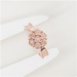 Vintage .21 carat Diamond Cluster Rose Gold Ring